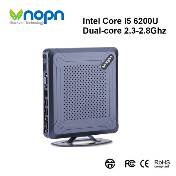 Mini PC Intel Core i5 6200U Dual-core 2.3-2.8Ghz Windows/Linux HD-MI VGA HTPC Desktops Nettop 8xUSB SSD 256G Computer with WIFI