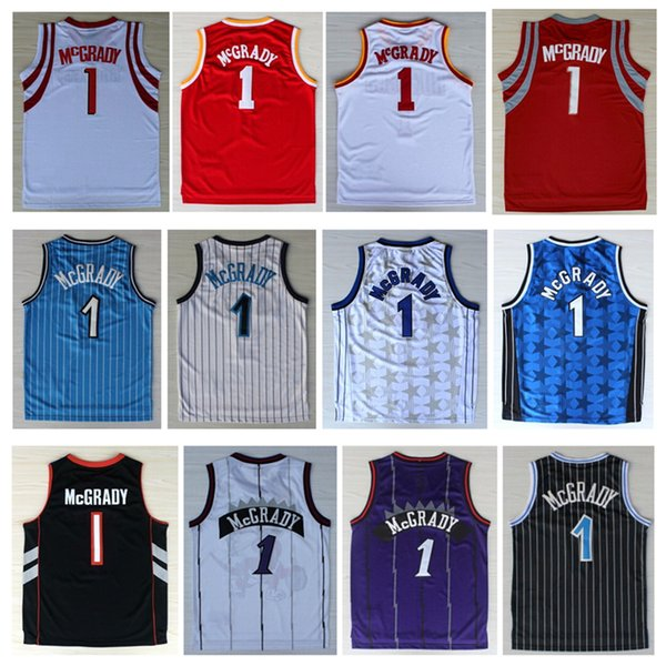 finest selection 98b46 ffad1 2019 2019 Mens Shirt Tracy McGrady Jersey Cheap 1# Tracy McGrady Basketball  Jerseys Tean Black White Red Blue Purple From Csy333, $23.01 | DHgate.Com
