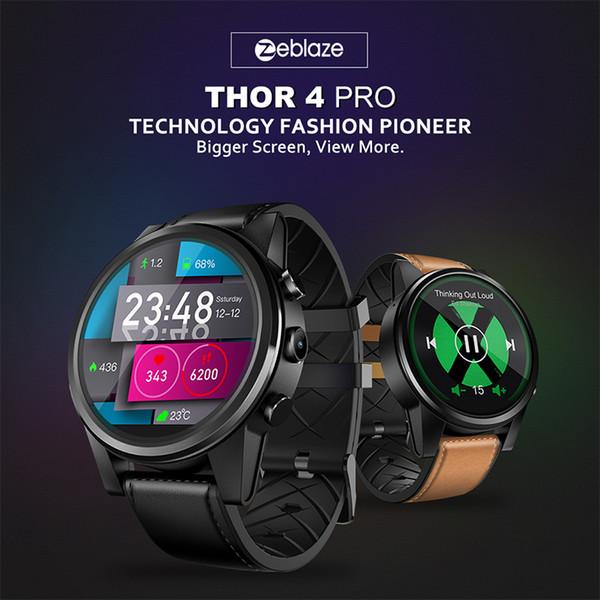 Zeblaze Thor 4 PRO Smart Watch Android 1GB+16GB 600mah 4G Network Smartwatch GPS WIFI Watch Smart Sport Men Women PK ALLCALL W2