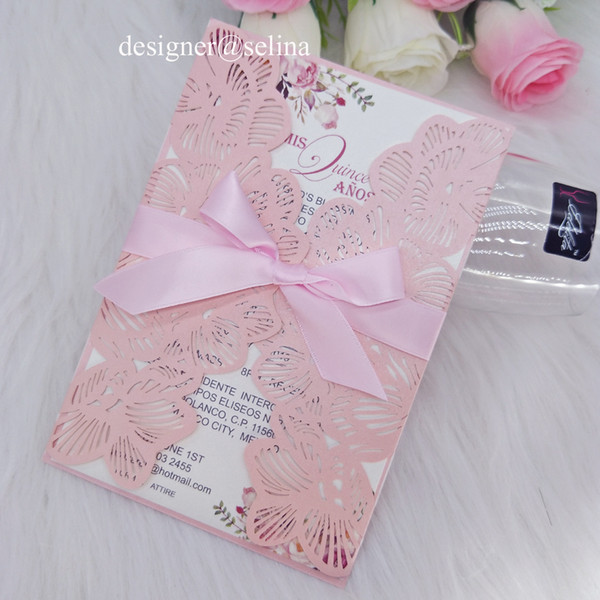 Baby Blue Rose Personnalisé A6 Enveloppe Mariage Invitations THANK YOU Cartes