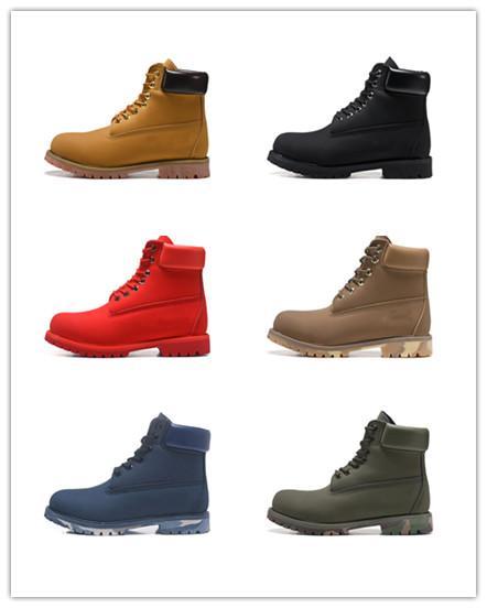 compras libres para hombre botas de las mujeres de invierno negro de la castaña blancos rojos casuales botas verdes Martin senderismo zapatos deportivos botas de diseño SIZE36-45 zh0640