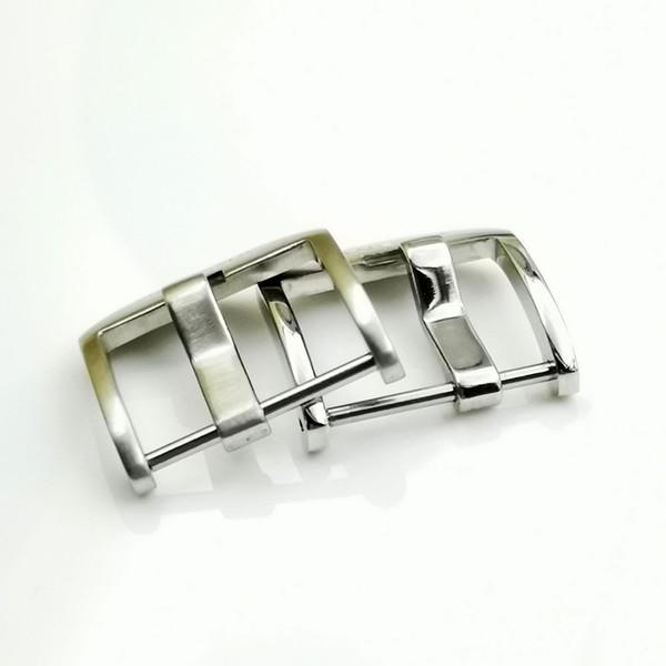 20 mm 22 mm Moda de buena calidad Tipo antiguo Tornillo de acero pulido plateado Hebilla de espiga para PAM PAN ERAI Correa de cuero de goma con LOGOTIPO DE PAND