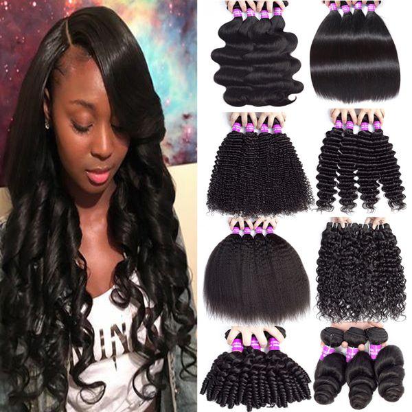 Mongolian Remy Hair Bouclés Bundles Trame 100% Non Transformés Vierge Weave Bundles Weave Bundles vague lâche peut être teint et blanchi couleur naturelle