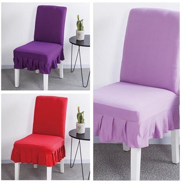 Mode Einfache Reine Farbe Stuhlabdeckung Hohe Elastizität Stuhlabdeckung Hotel Haushalt Allgemeine Büro Computer Stuhl Bucht kissen T3I5007