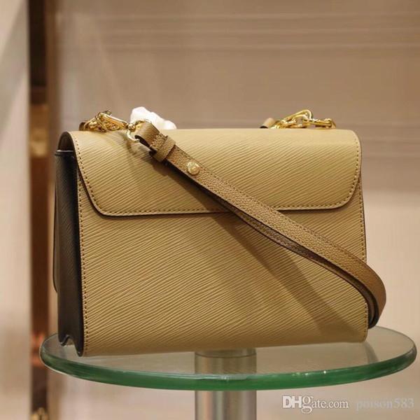 borsa a tracolla a strisce di colore solido a strisce di alta qualità 100% del cuoio genuino delle donne trasporto libero