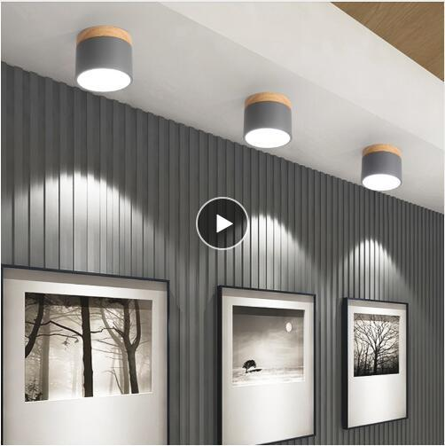 Großhandel Moderne Deckenleuchten Nordic Iron + Wood Deckenleuchte Für  Wohnzimmer Schlafzimmer Kinderzimmer Gang Korridor LED Spot Light Home  Fixture ...