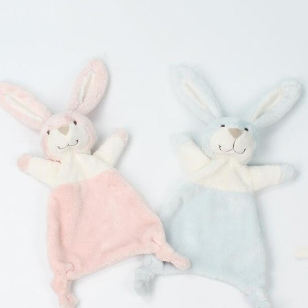 Baby Infant Cute Rabbit Plush Doll Toy Comfort Towel Soft Appease Doll Stuffed Animal Bunny Toy Playmate Calm Educational Dolls