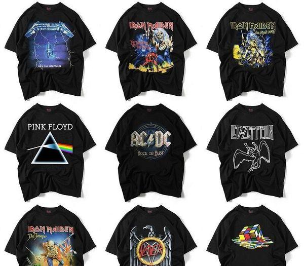 Mens Designer T-shirts en vrac crainte de Dieu Garçons jeunesse Le groupe de rock 3D T-shirt imprimé Hip hop Couleur Noir Clothes58 Casual