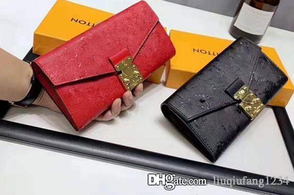 The New Purse Female Long Genuine Leather Flip Clasp Small Envelope Luxury Wallet Men Fashion Ladies European Purses For Women