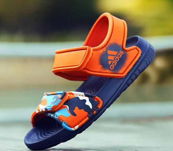 2019 Nouveaux Enfants Garçons Sandales Pour Filles En Cuir Ventilation Chaussures Enfants Marque Sneakers Fille Enfants Mode Livraison gratuite taille: 24-31