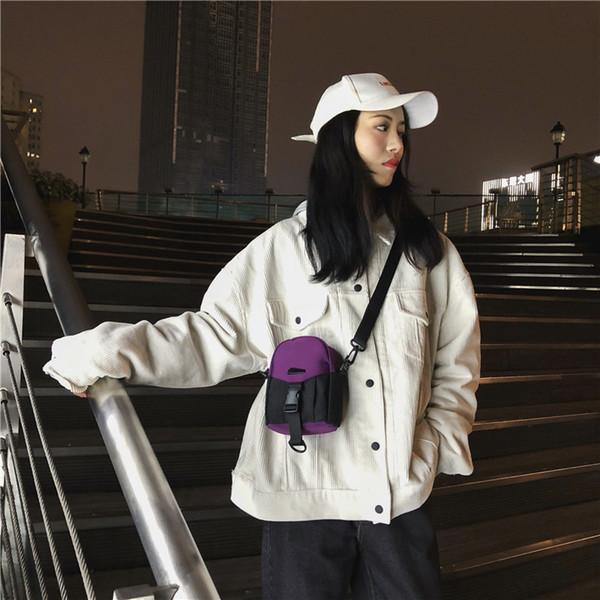 Charismatic2019 En Verano Bolsa pequeña Mujer Nuevo patrón Cofre Coreano Personalidad de la moda Bolsillo Paquete de teléfono móvil Mensajero de todo el partido Marea
