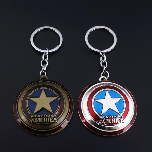 Kaptan Amerika Avenger Süper Kahraman Kaptan Amerika Kalkanı Metal Kolye Anahtarlık Anahtarlık aksesuarları çocuklar için hediyeler Anahtarlık Takı