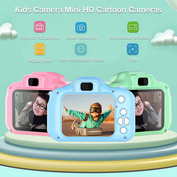 New 2 0inch 3264x2448 800w pixel kid camera toy mini hd cartoon magical camera taking picture gift for boy girl birthday