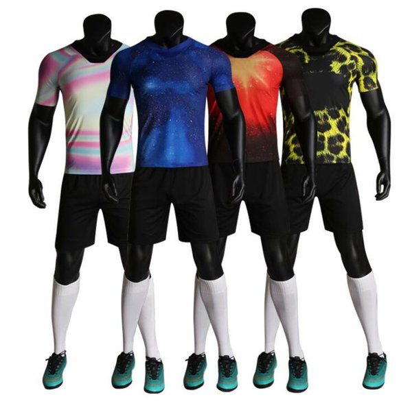 newest 90c70 88307 2019 Custom Uniforms Dream Pattern Soccer Suit Football Jersey Personalized  Printed Jerseys Short Sleeves Shorts Soccer Practice Team DIY From ...