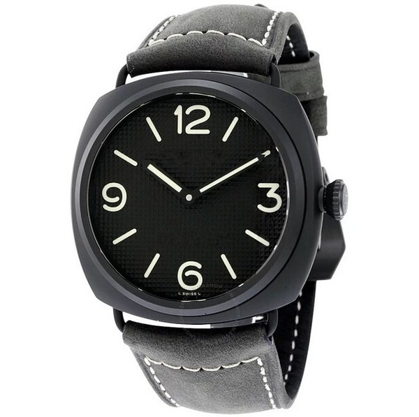 New brand 00643 automatic machinery men's stainless steel case black cowhide strap watch 45mm