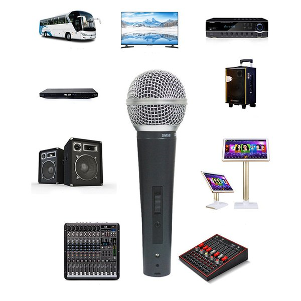 SM58S Dynamic Vocal Microphone with On and Off Switch Vocal Wired Karaoke Handheld Mic HIGH QUALITY for Stage and Home Use