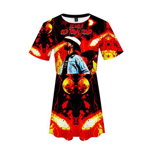 3D Lil Nas X dress Printed Women cute Dress Summer streetwear Dresses 2019 Hot Sale Girls Casual harajuku dress plus size xxl