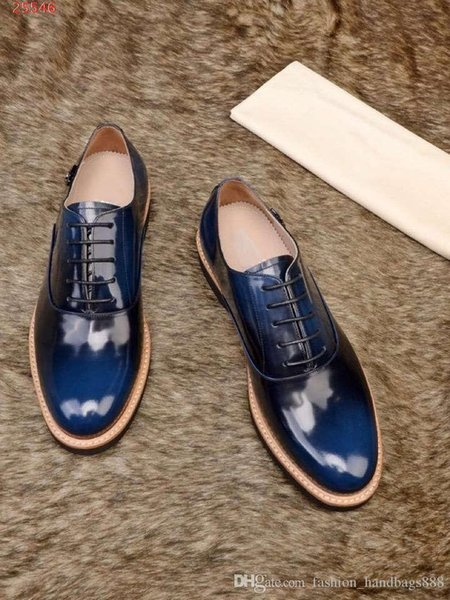 New breathable style formal business leather men shoes Italy Lace Oxford shoes Printed stripes wedding casual shoes