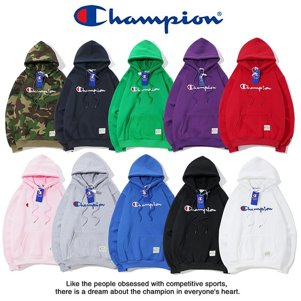 Champ bordado hoodies outono inverno marca de moda dos homens mulheres de manga longa de luxo camisolas de algodão com capuz pulôver com cashmere