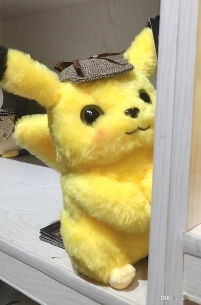 Der meistverkaufte Detektiv Pikachu Plüschpuppen 30cm Pikachu Plüsch spielt Karikatur Plüschtiere spielt weiche beste Geschenke