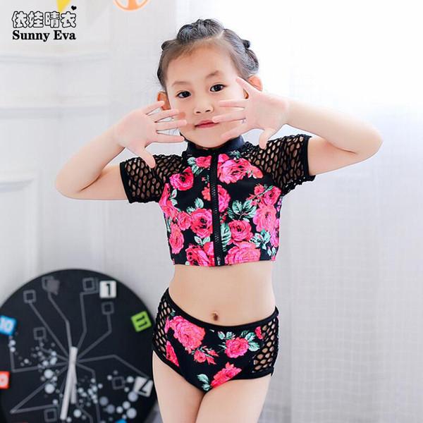 sunny eva tankini badeanzüge sexy kinder bikini mesh kinderbadebekleidung für mädchen badeanzug separate zweiteilige badebekleidung