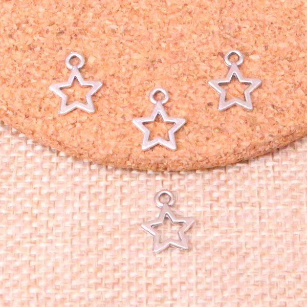 332pcs Charms Antik Gümüş Kaplama Kolye Fit Takı Yapımı Bulguları Aksesuar 12mm yıldız