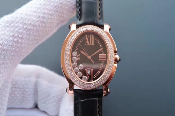 HAPPY DIAMONDS series, 39.5*32(with head)*10mm, ladies watch, quartz movement, compact bottom, four optional, diamond-encrusted