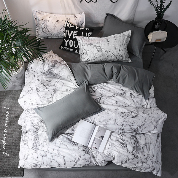 new arrival classical double sided bed linings concise style bedding set quilt cover pillowcase cover bed linens 3pcs/set