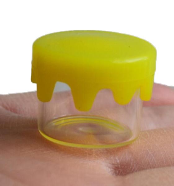 Контейнер для воска с антипригарным покрытием для пищевых продуктов 6 мл Бутылка для сухого концентрата с красновато-желтой силиконовой крышкой с логотипом