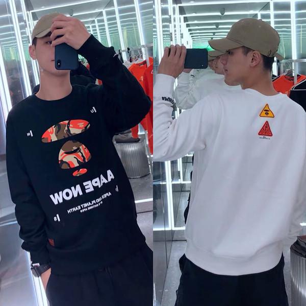 Street Fashion Mens di marca felpate scimmia Embroid Donne Hoodies casuali Pullover di lusso Camicie Maglie Hiphop camicetta di modo VV3 B105212L