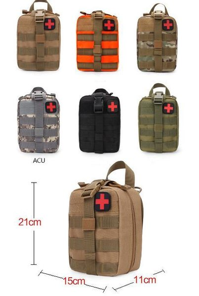 Durable Emergency Kits Bag Tactical Medical First Aid Kit Military Waist Pack Outdoor Camping Travel Tactical Molle Pouch
