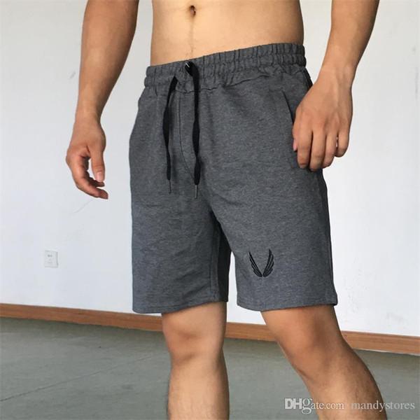 2018 Erkekler Casual Yaz Şort Seksi Sweatpants Erkek Spor Vücut Geliştirme Egzersiz Man Moda Crossfit Kısa pantolon DK-7