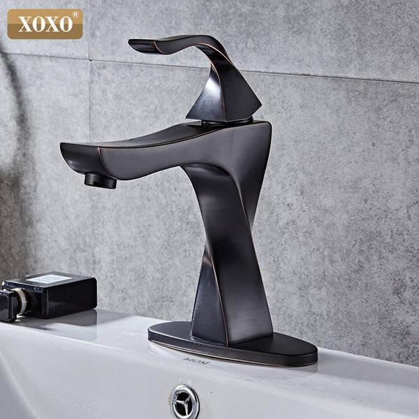 2019 Black Color Basin Faucet Deck Mount Bathroom Sink