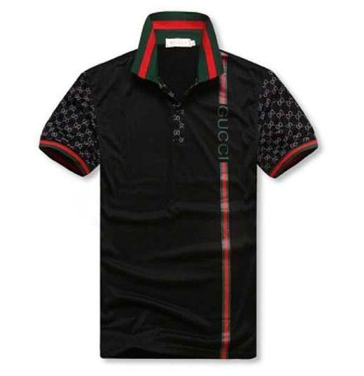 venta caliente Nueva G G verano de los hombres de moda los pantalones de ocio Euro US colocación de la solapa de las camisetas del polo de los hombres Italia camisa de polo