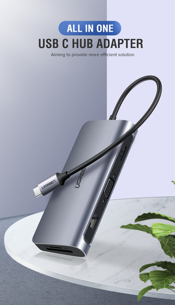 Thunderbolt 3 Dock USB Type C à HDMI HUB 3 ports USB 3.0 Adaptateur pour MacBook Samsung Galaxy Dex S10 / S9 USB-C Convertisseur Thunderbolt HDMI