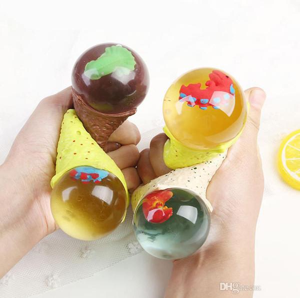 Anti-stress œuf de dinosaure nouveauté amusante Splat Raisonnement Balles Venting Squeeze Stress Soulagement Gags Blagues Pratiques Jouet Drôle Gadgets