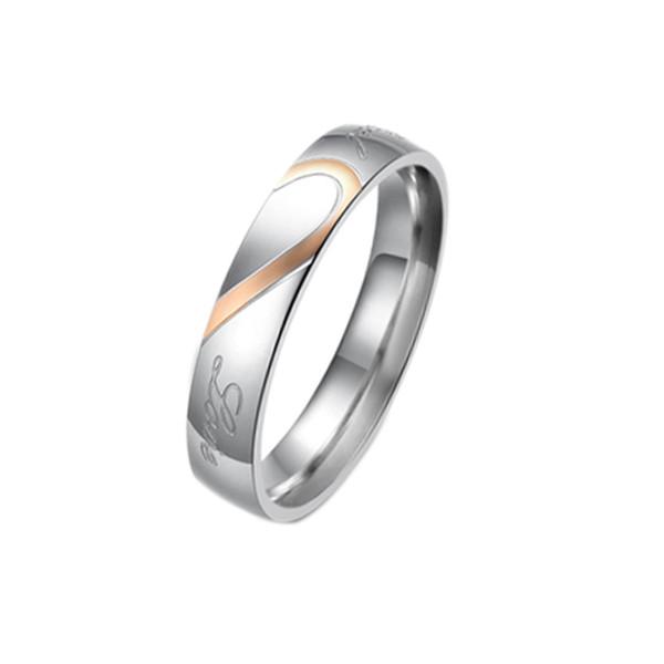 Мода валентинки титана стали в форме сердца головоломки кольца держать руки пара колец ювелирных изделий