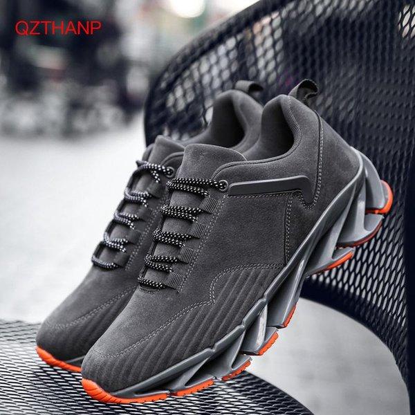Yeni 2018 Bahar Moda Erkek Günlük Ayakkabılar Deri ayakkabı erkekler Sneakers Blade Ayakkabı Nefes Krasovki Eğitmenler Yüksek Süet