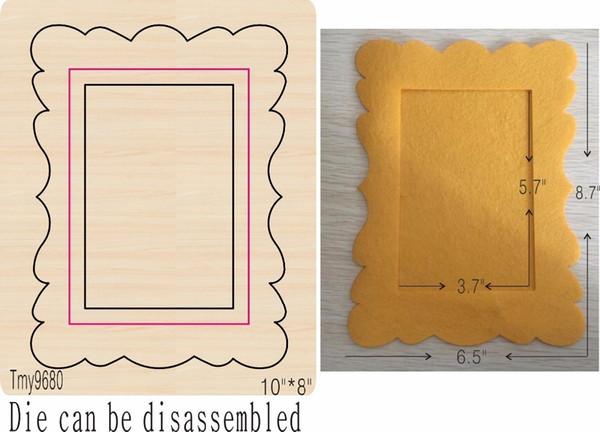 Foto Frame-4 Diy Novo Molde De Madeira De Corte Morre Para Scrapbooking Espessura / 15.8mm / tmy9680 Tmy9680-1 T190708