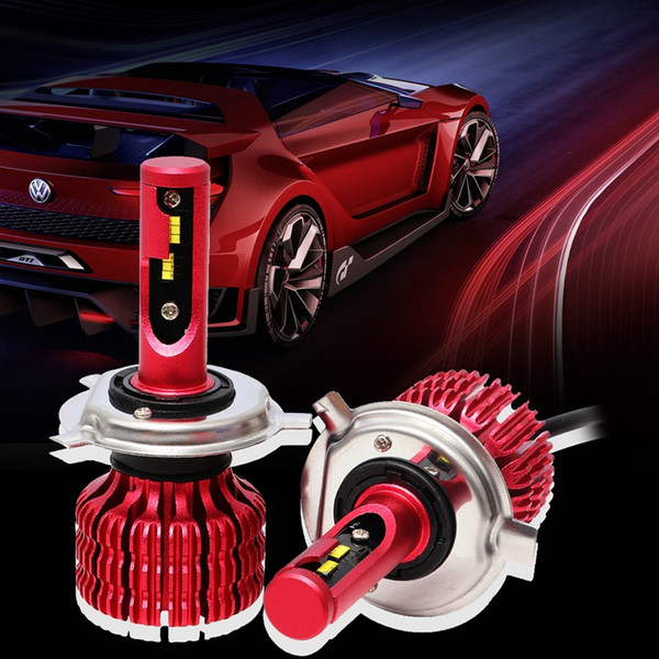H4 X9 2pcs del coche LED de la linterna de los bulbos 6000K 36W 1800LM LED Faro antiniebla