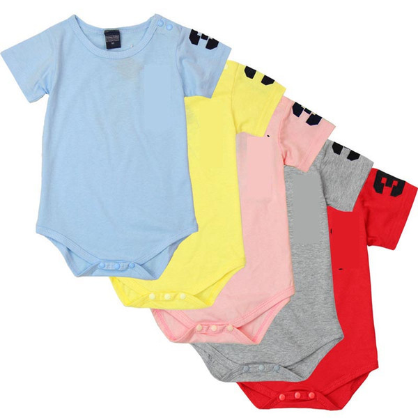Neue Sommer Baby Mädchen und jungen Strampler Designer Kinder Mode Oansatz Kurzarm Overalls Infant Mädchen Baumwolle Strampler Jungen Kleidung C22