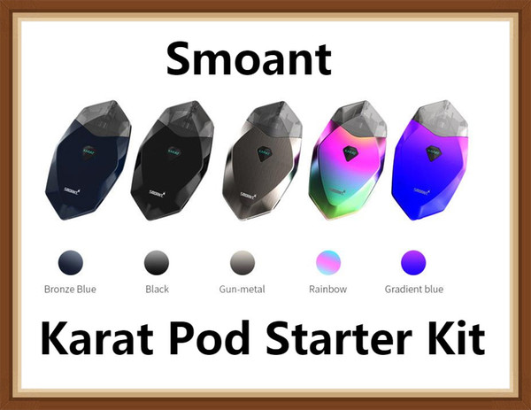 Smoant Karat Pod Starter Kit 370mAh-Batterie mit 2-ml-Vape-Stiftpatronen Innovative 1,3-Ohm-Quarzspulenmagnetverbindung 100% Original