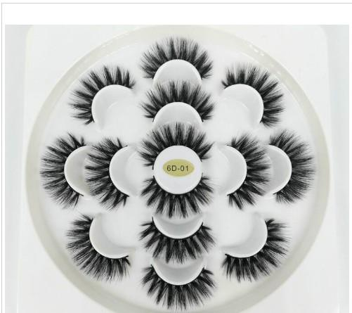 best selling Newest 7 Pairs 3D Eyelashes Handmade Natural Long Faux Mink Lashes Women Makeup False Lashes Extensions Maquiagem Tools Drop Shipping