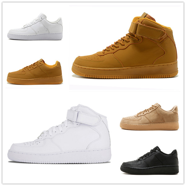 2019 forces Men Women Low Cut one 1 White Black Dunk Skateboarding Shoes Classic AF fly Trainers high knit air designer Sneakers kj236