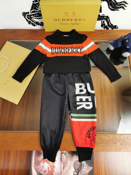 Zweiteilige Outfits Kinder Kleid-Klage-Kind-Sport-Hose aus reiner Baumwolle Kinder-Anzüge 0919