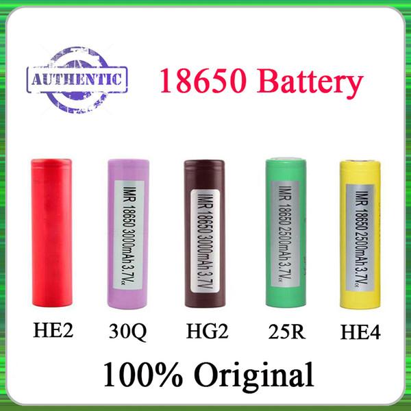 100% Auténtica 18650 Batería LG HG2 Samsung INR18650 30Q 3000MAH HE2 HE4 INR 25R 2500mah Baterías Recargables Utilizando Celda Fedex