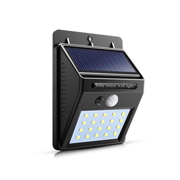 best selling Night Light Solar Powered 20 LED outdoor Wall Lamp PIR Motion Sensor Night Solar Light garden lighting