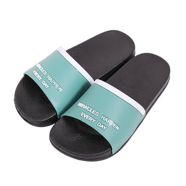 Unisex Kids Girls Boys Home EVA Sole Slippers Floor Family Solid Colors Shoes Beach Sandals Shoes Summer Kids Slippers