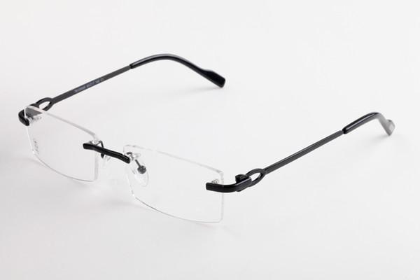 New 2019 lens rimless eyeglasses Buffalo Horn eyeware Brand Designer glasses Mirror Rimless Oculos for Men Women With Box