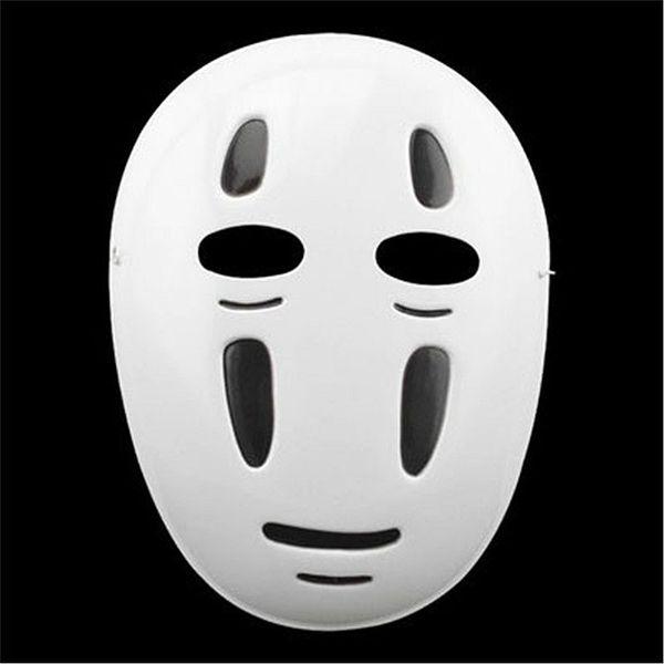 Commerci all'ingrosso 10 pz / lotto Spirited Away Maschera di Halloween cartoon No face maschere da festa maschere Anime giapponesi Nero Viola Puntelli da vento